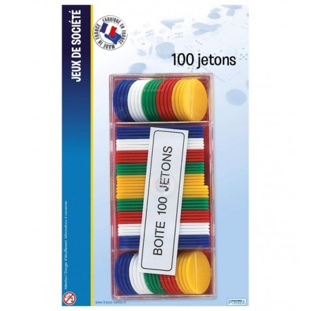 BLISTER BOITE 100 JETONS 27 MM