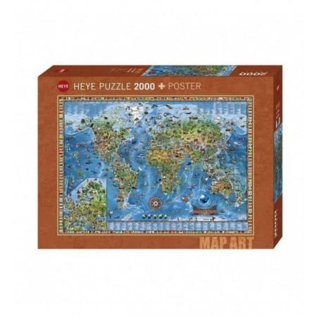 2000P MAP ART AMAZING WORLD...