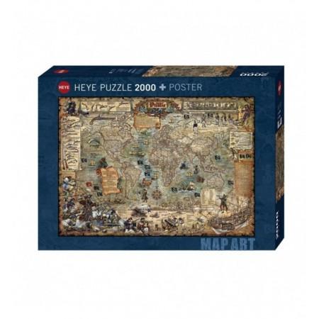 2000P MAP ART PIRATE WORLD...