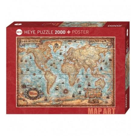 2000P MAP ART THE WORLD HEYE